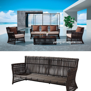 Durable synthetic rattan furniture used rattan garden waterproof sofa for sale