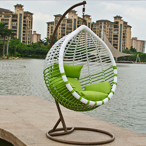 Indoor and outdoor wicker swing chair furniture