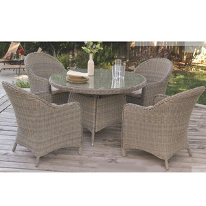 Outdoor Garden Round Rattan Furniture Dining Table Chairs Set For Patio Restaurant Wholesale Outdoor Furniture Products On Tradees Com