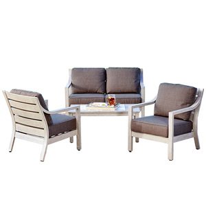 Lowest Price outdoor sofa aluminum patio furniture rattan garden set sofas