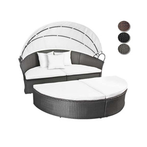 Modern Outdoor Garden Rattan Outdoor Garden Furniture Lounge Sectional Daybed Sofa