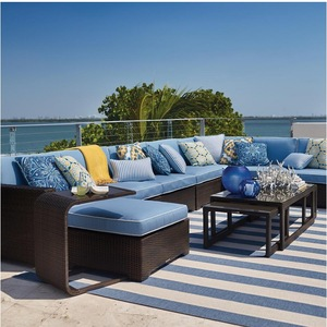 royal outdoor leisure living furniture l shaped sofa set