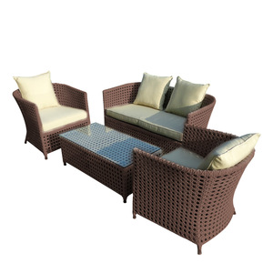 Factory Sale Outdoor Garden Patio Dining Single Rattan Wicker Chair No Fold Cafe Rattan Chair For Sa