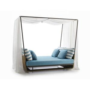 modern outdoor patio ounger aluminium frame waterproof fabric seat beach sunbed garden balcony pools