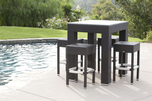 outdoor patio rattan wicker furniture bar set pictures & photos