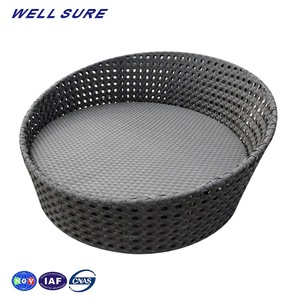 Wholesale Thailand Outdoor Waterproof Cabana Rattan Sunbeds Lounger Daybed