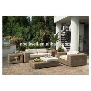 2020 cheap outdoor brown rattan sofa furniture garden sets AWRF9015 rattan sofa pictures & photos