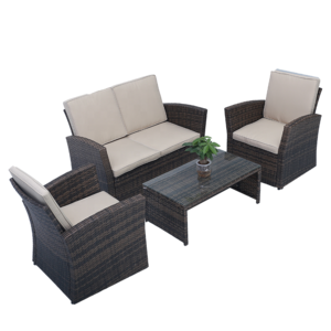 2020 hand made sofas furniture rattan wicker single sofa ottoman pictures & photos