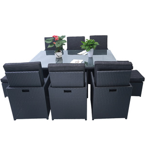 10 Piece All-Weather Cushioned outdoor furniture rattan garden Furniture Set pictures & photos