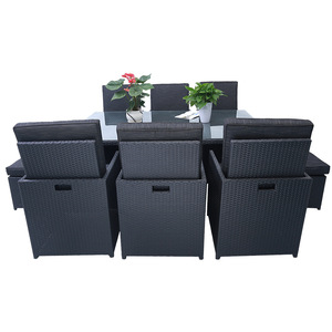 10 Piece All-Weather Cushioned outdoor furniture rattan garden Furniture Set