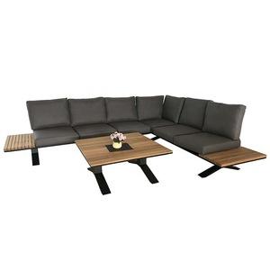 Aluminum sofa outdoor garden furniture waterproof cushion teak coffee table