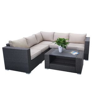Elegant style outdoor rattan sofa set indoor wicker furniture pictures & photos