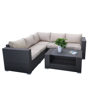 Elegant style outdoor rattan sofa set indoor wicker furniture