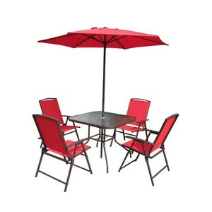 Outdoor Modern Metal Folding Foldable Garden Chairs and Table Patio Furniture Garden Patio Set with