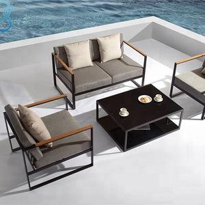 modern aluminium frame outdoor furniture sofa patio sofa sets with cushion