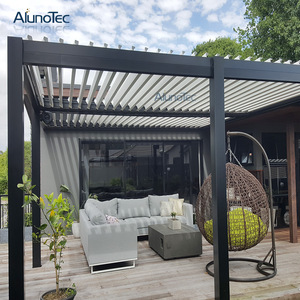 Garden Patio Furniture Kits Aluminum Pergola Shutter Modern