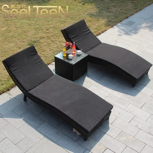 Green top sale luxury rattan pool modern hotel outdoor furniture