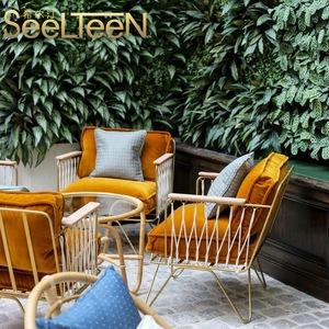 Modern aluminum garden comfortable sofa chair outdoor furniture for leisurely party