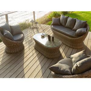 Mixarts outdoor steel furniture living room wicker sofa set
