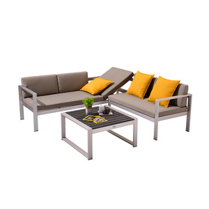 Sectional Sofa Patio Modular Aluminum Garden Outdoor Furniture Set For Sale