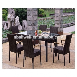 New arrival used patio resin wicker outdoor dining furniture from China Supplier wicker outdoor dini