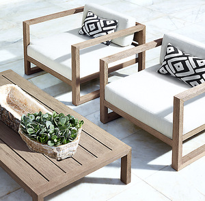 Outdoor Furniture Simple Classical Latest Armrest Single And Double Seater Teak Wood Sofa Set Design Wholesale Outdoor Furniture Products On Tradees Com