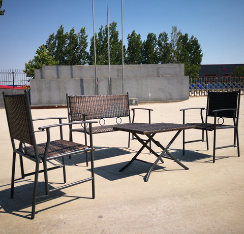 Hot Er Steel Rattan Furniture Patio