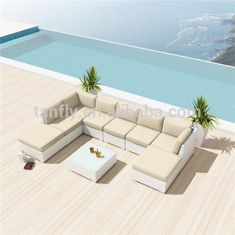 8 seater seaside house Patio Garden rattan corner sofa pictures & photos