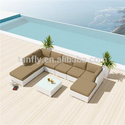 8 seater seaside house Patio Garden rattan corner sofa