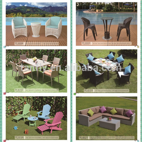 All Weather Wicker Patio Furniture Outside Rattan Garden Dining Table and Chairs set pictures & photos