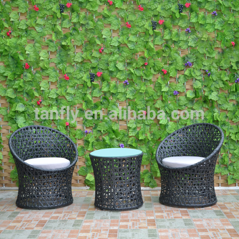 All Weather Wicker Patio Furniture Outside Rattan Garden Dining Table and Chairs set