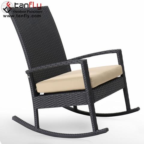 Comfortable Garden Furniture Metal Rattan Outdoor Rocking Recliner Chair pictures & photos
