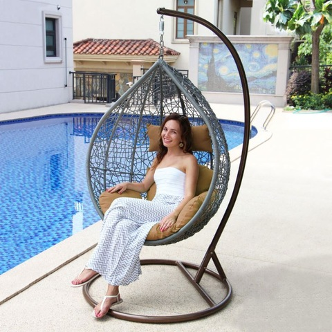Cottage Outdoor Rattan Hanging Wicker Swing Chair Bedroom Egg Wholesale Patio Swings Products On Tradees Com