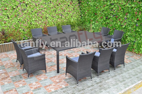 Garden Furniture Wicker Rattan 8 Seater Outdoor Dining Setting Table And Chairs Wholesale Garden Sets Products On Tradees Com