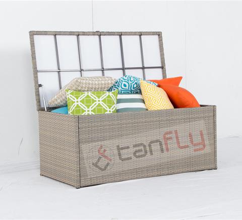 Garden Wicker Furniture Waterproof Outdoor Cushion Storage Box pictures & photos
