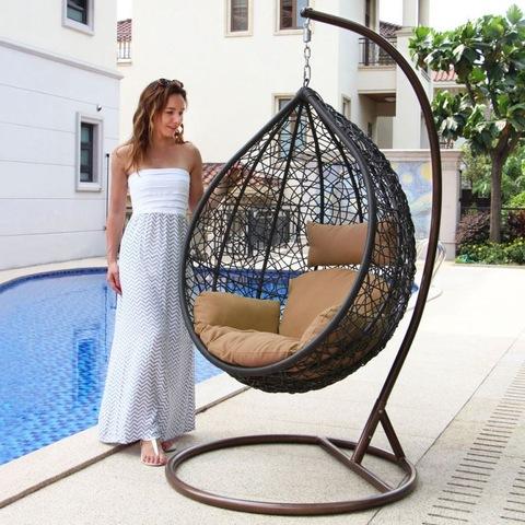 Indoor Leisure Outdoor Patio Double Wicker Swing Chair Rattan Hanging Egg pictures & photos