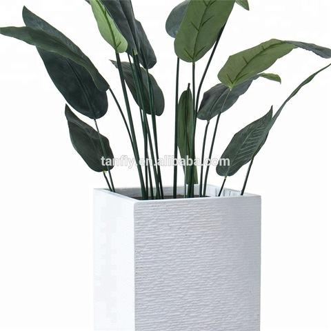 Lightweight Outdoor Concrete White Decorative Flower Pot pictures & photos