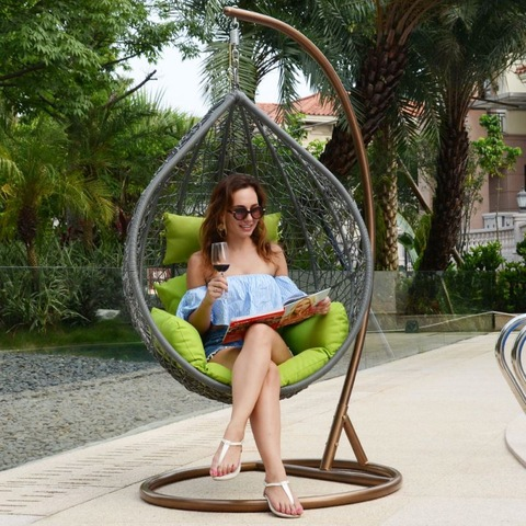 Modern Outdoor Furniture Outdoor Rattan Patio Wicker Swing Chair Hanging Egg pictures & photos