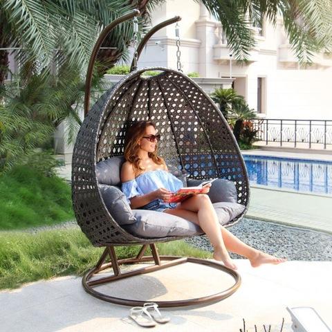 Modern Outdoor Furniture Swing Hanging Chair In Rattan Wicker Of Garden pictures & photos