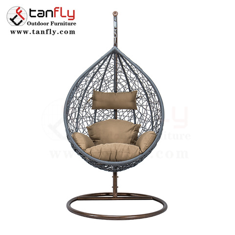 Modern leisure single person patio swing with stand pictures & photos