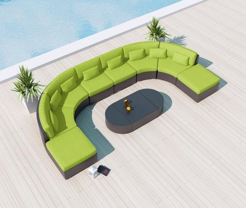 Patio Modular Sectional Couch Rattan Garden Furniture Outdoor Sofas pictures & photos