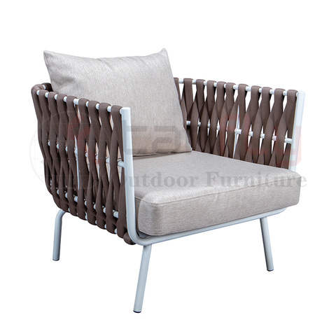 Simple style Outdoor Rope Woven sofa Garden furniture set with rope winding