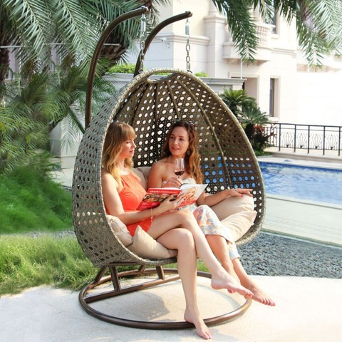 Wicker Outdoor Furniture Home Garden Swing For Adult Jhula Swing Chair Balcony