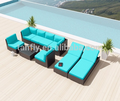 Wicker Poly Rattan Patio Furniture Outdoor Lounge Sofa Set pictures & photos