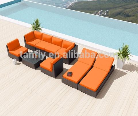 Wicker Poly Rattan Patio Furniture Outdoor Lounge Sofa Set