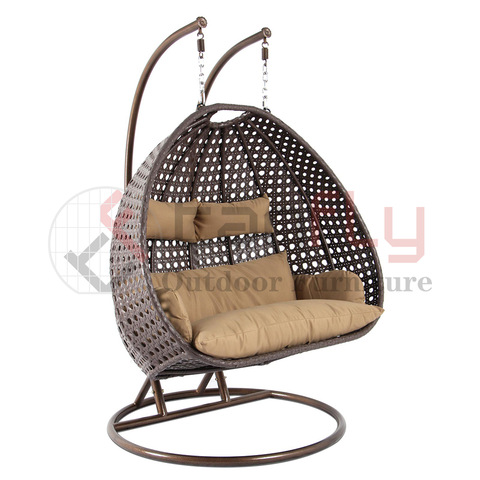 hot sale iron frame rattan nest swing chair pictures & photos