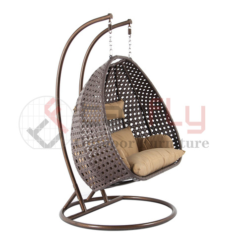 hot sale iron frame rattan nest swing chair