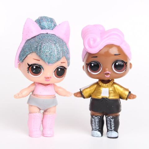 8 Pieces Sets Lol Dolls Doll Toys Decoration Action Figure