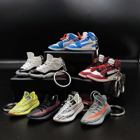 3d sneaker keychains with box