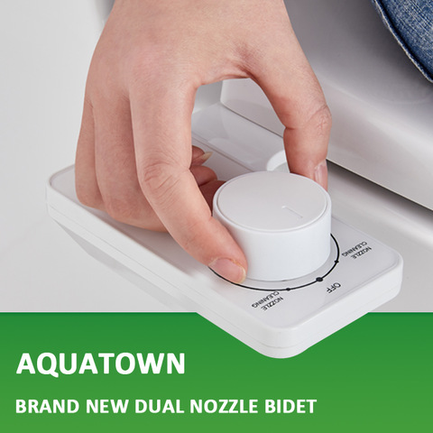 Aquatown New Design Non Electric Dual Nozzle Bidet Attachment For Toilet Seat Wholesale Bathroom Kitchen Products On Tradees Com